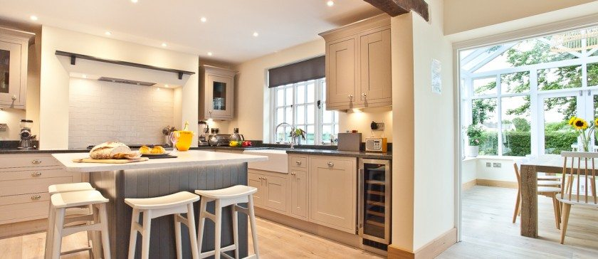 The Kitchen and conservatory at Weavers Cottage