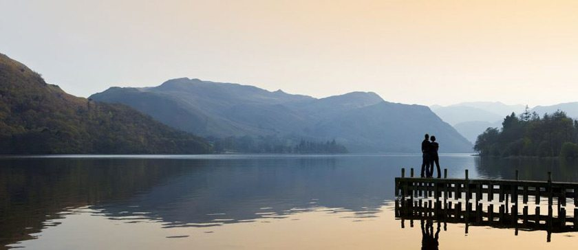 A misty view of Ullswater
