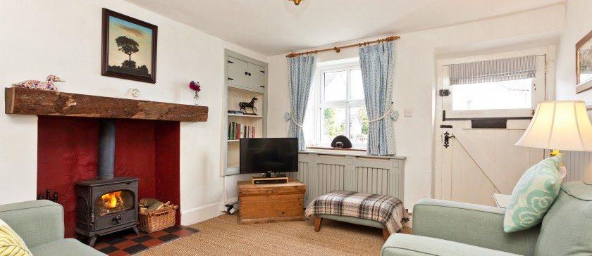 The sitting room in Shmarock Cottage near Cartmel