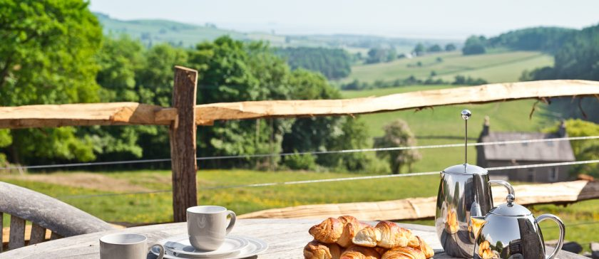 Breakfast with a view of the Cartmel Valley
