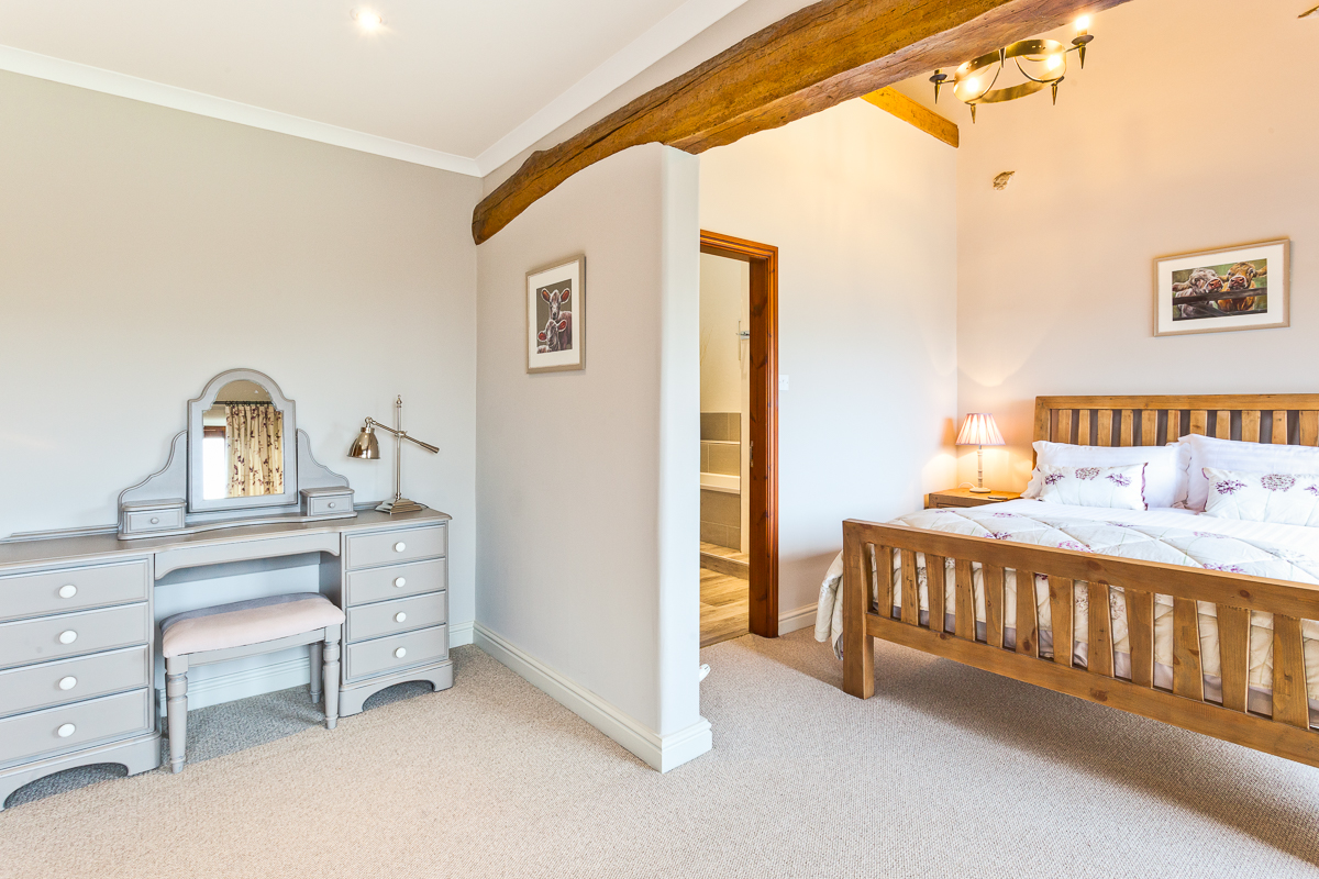 King size downstairs bedroom at Cartmel Hill