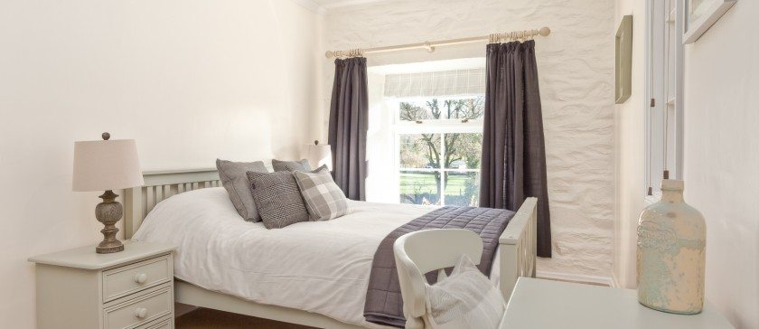 The Farrow and Ball King Sized Bedroom at Charcoal House