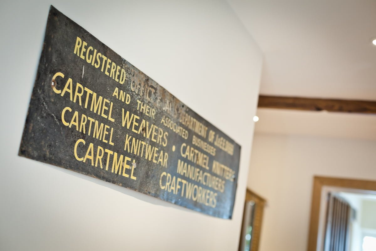 Old sign for Cartmel Weavers
