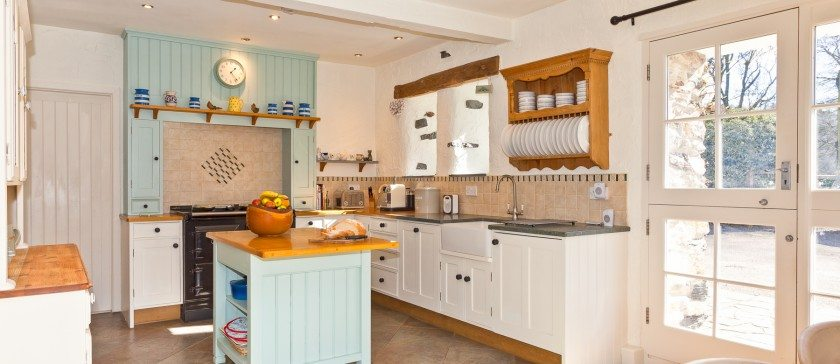 Sunny kitchen at Charocal House