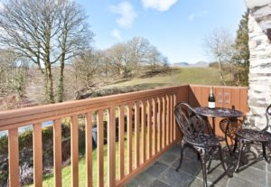 The Balcony and view of the Coniston Fells in winter
