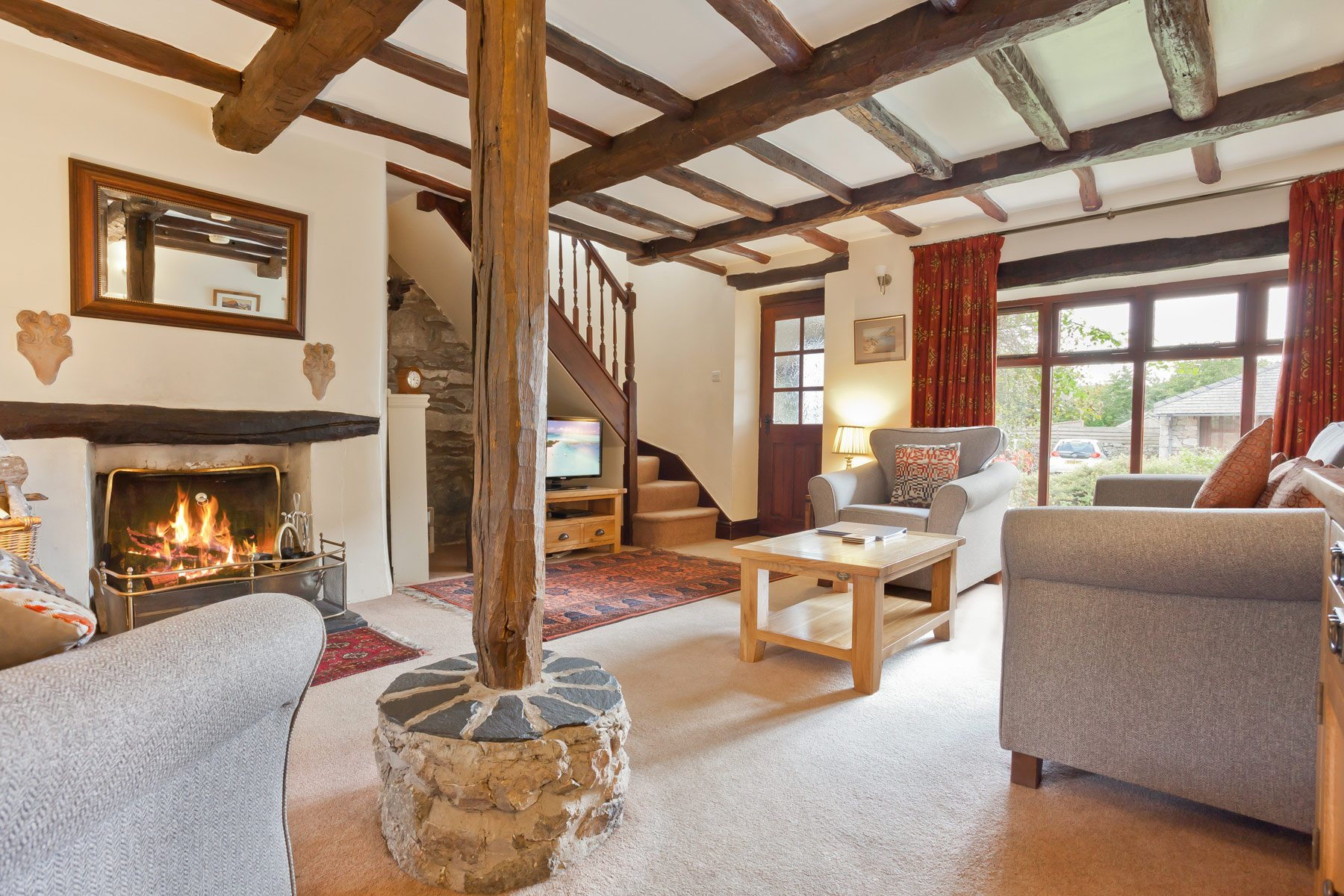 Carree Cottage living room in 2019