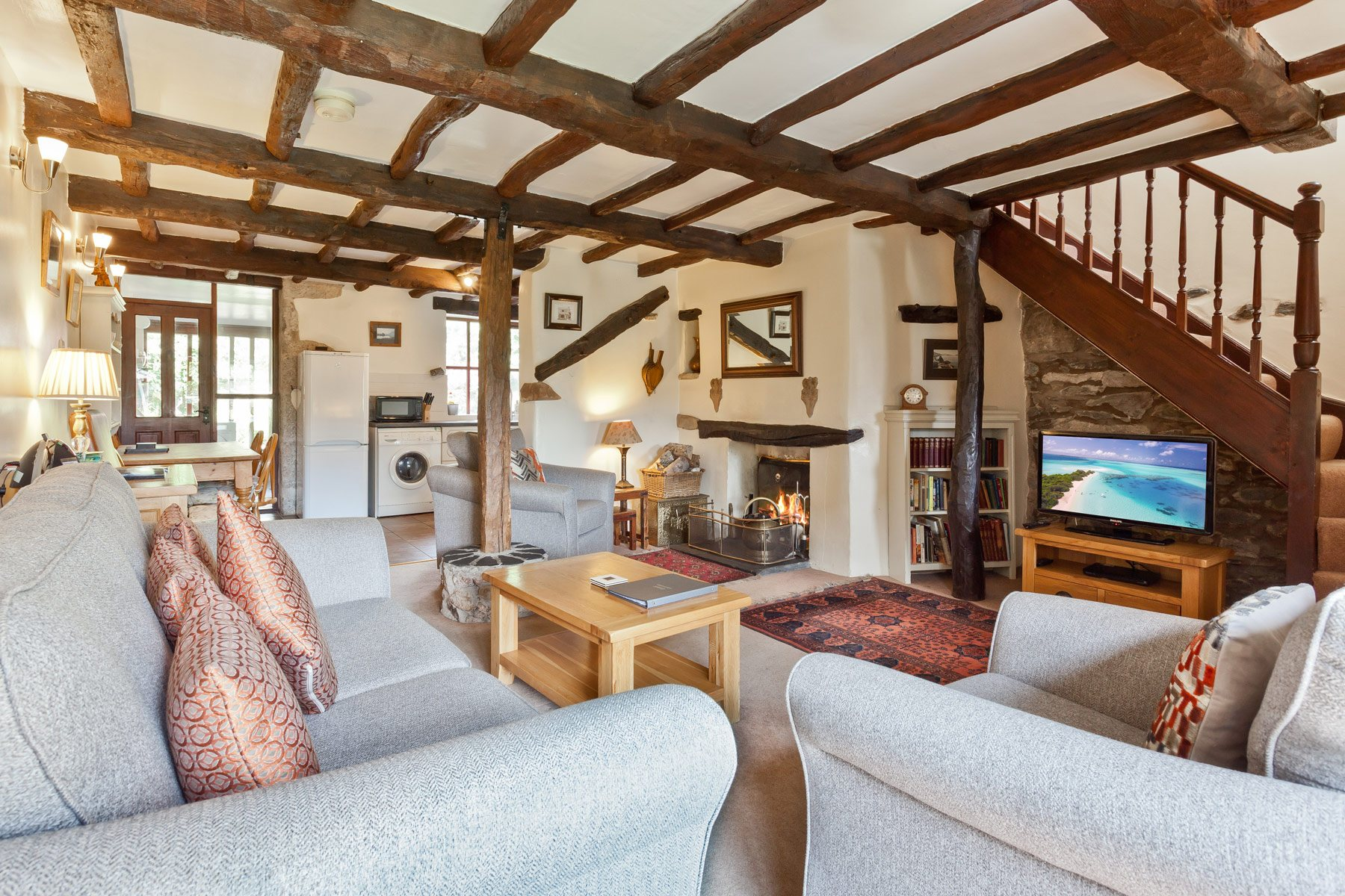 The living room in Carree Cottage in 2019
