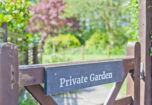 Private garden sign