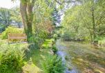 The River crake at the bottom of the garden
