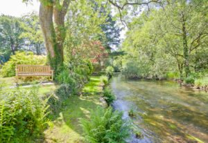 The River crake at the bottom of the garden